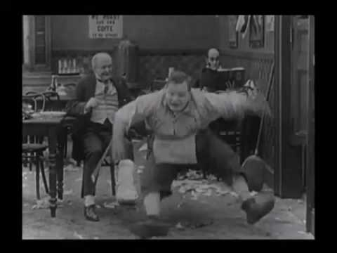 Fatty Arbuckle   Struggling For A Hat   The Waiters' Ball 1916
