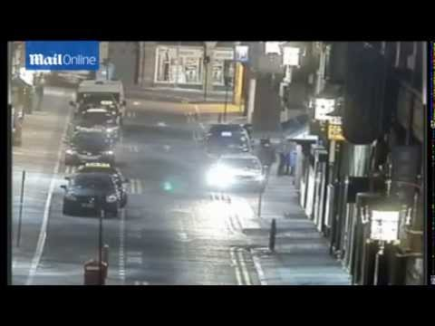 CCTV, Drive by revenge shooting at Newcastle casino""