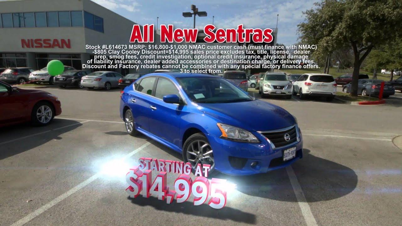 Clay Cooley Nissan Austin >> Super Sale On Nissan Versa And Sentra At Clay Cooley Nissan Of Austin