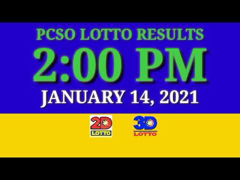 2pm PCSO Lotto Result Today, January 14, 2021, EZ2, Swertes, 2D, 3D, STL,