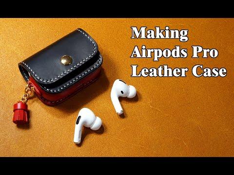 42 [Leather Craft] Making Apple Airpods Pro Leather Case / [가죽공예] 애플 에어팟프로 가죽 케이스 만들기 / Free Pattern