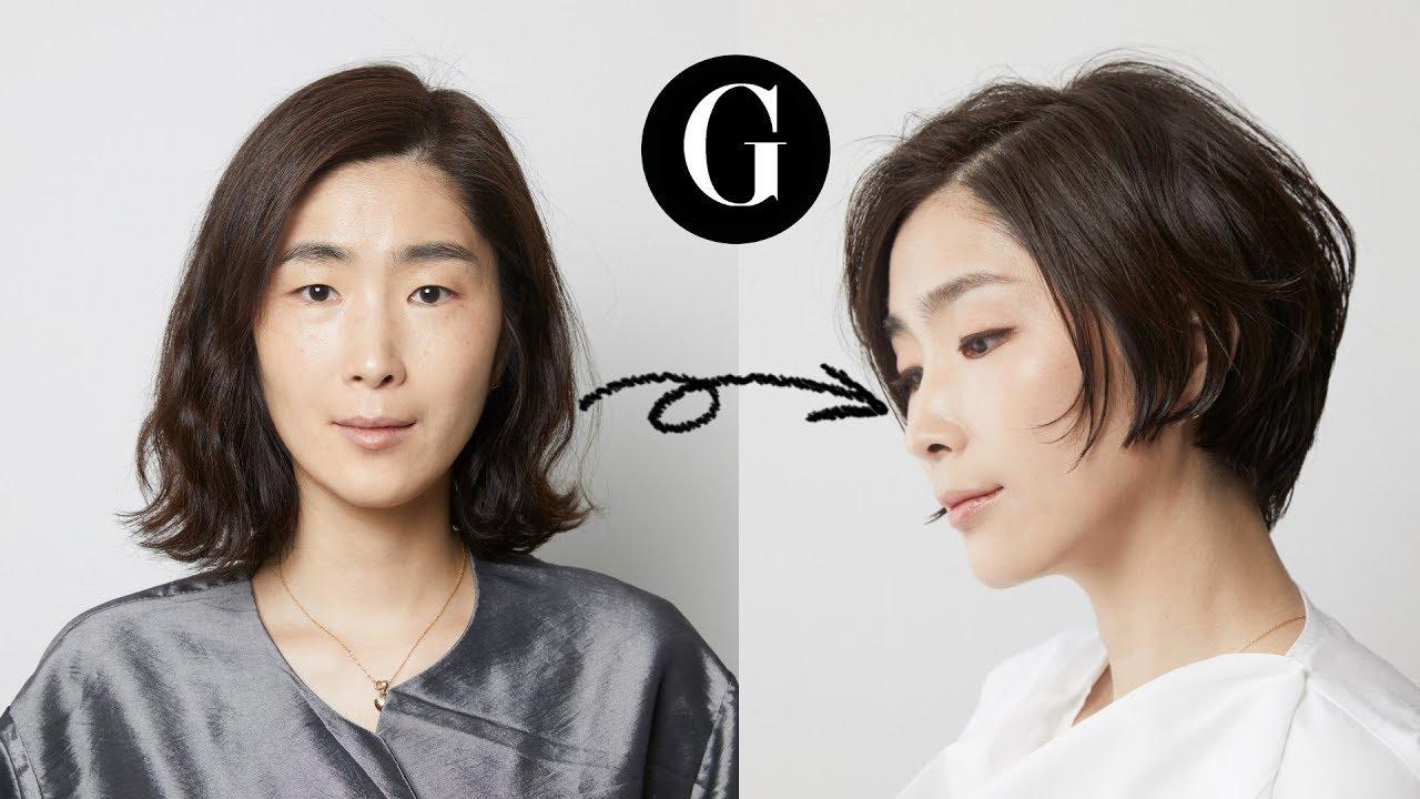 [그라피TV] {ENG SUB}중년여성헤어스타일 '결혼 후 첫 화장, 엄마의 외출' 머리 볼륨은 살리고 시크하게 korean  hairstyle haircut tutorial