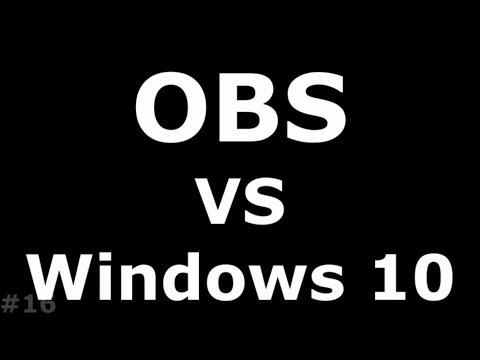 Черный экран в OBS Windows 10