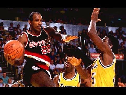 """Clyde Drexler """"The Monster Jam"""" Vs. LeBron James Comparison"""