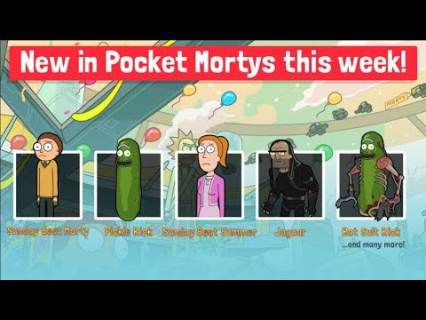 POCKET MORTYS - PICKLE RICK + PICKLE MORTY! NEW MORTYS UPDATE!