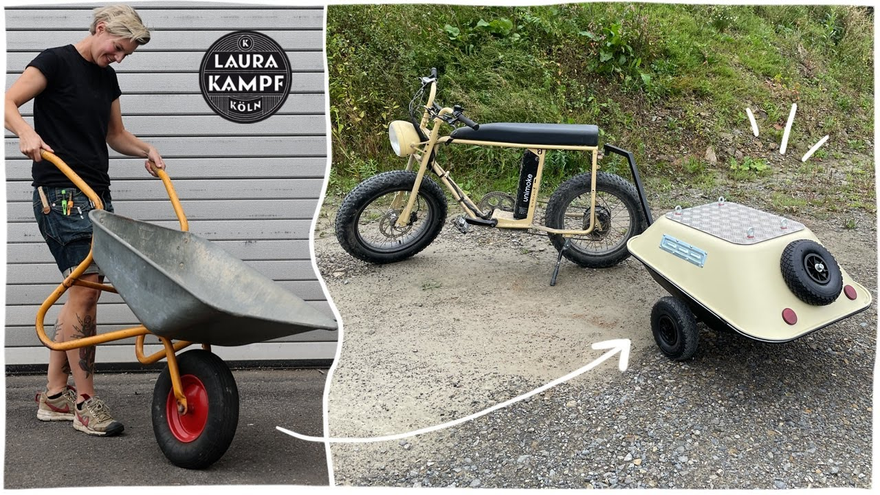 Download The ultimate Bike Trailer (made of old Wheelbarrows)