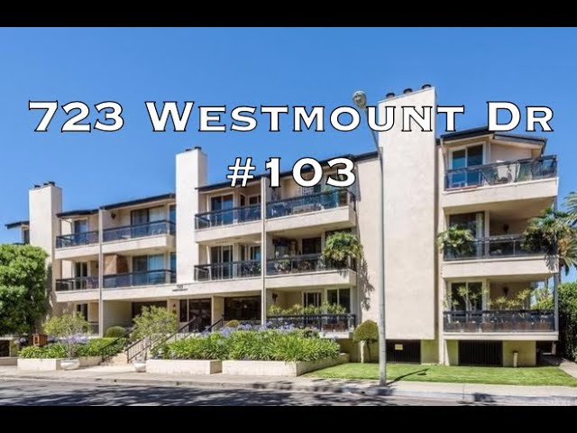723 Westmount Drive #103, West Hollywood CA 90069