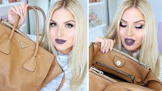 Whats In My Prada Bag?! ♡ Botox, Lube, Hairy Lashes & More!(NEW whats in my purse video! Ft lots of random junk, parking tickets, makeup and more! I hope you enjoy this for something different :) - BIGGEST HAUL EVER ..., 2016-05-22T22:27:45.000Z)