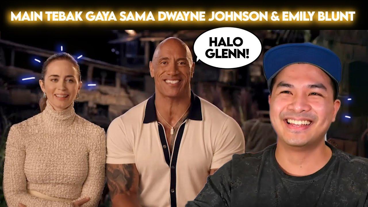 GLENN VIDEO CALL SAMA DWAYNE JOHNSON DAN EMILY BLUNT SAMPAI GA BISA TIDUR!!!