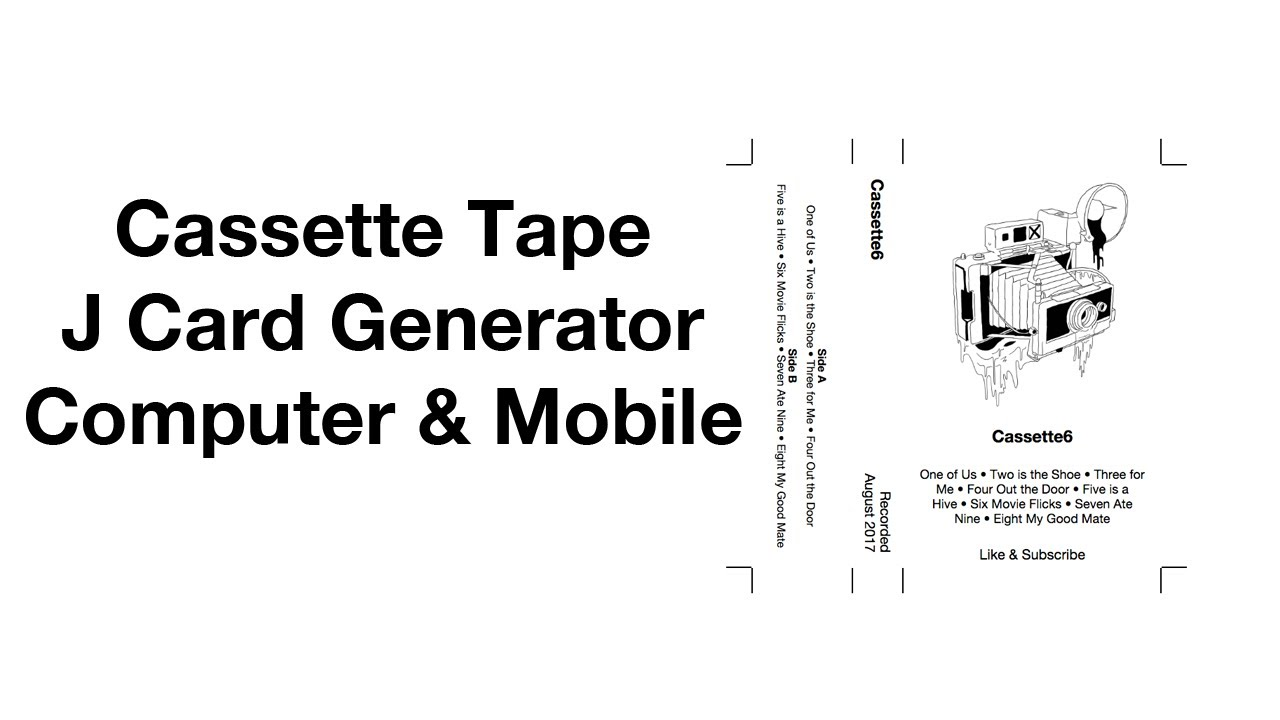 Cassette Tape Label Template from i.ytimg.com