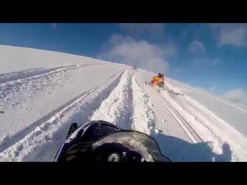 Snowmobiling on Langjökull glacier, Iceland