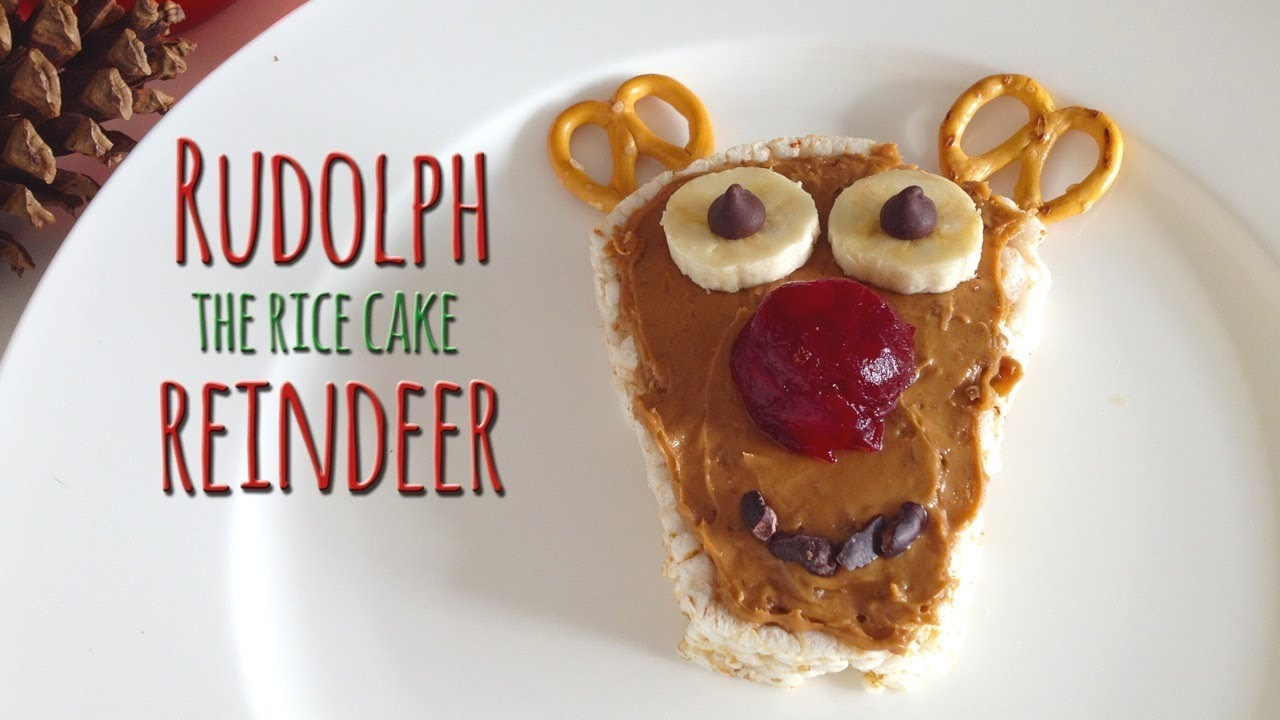 Easy food art how to make rudolph the red nosed reindeer youtube forumfinder Gallery