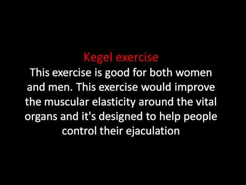 Exercises for Early Ejaculation
