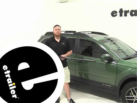 etrailer | Rhino Rack MountainTrail Roof Bike Racks Review - 2015 Subaru Outback Wagon