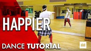 HAPPIER - Marshmello ft Bastille Dance TUTORIAL | Commercial Choreography Video #BHChoreo