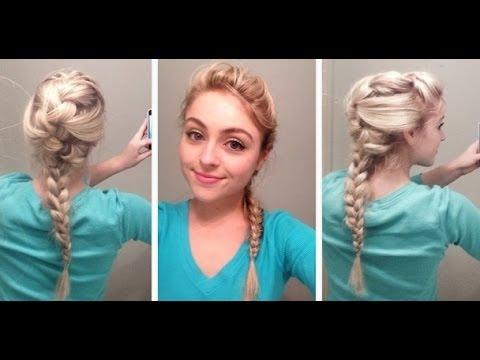Elsa Hair Tutorial From Disney S Frozen Youtube