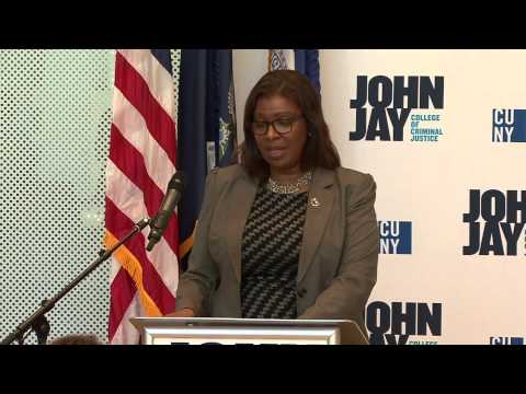 LETITIA JAMES AT JOHN JAY COLLEGE 4/20/15