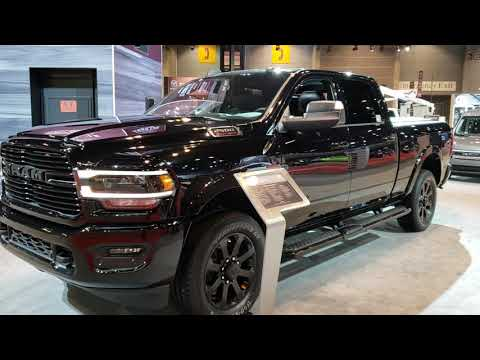 ALL NEW 2019 RAM 2500 CREWCAB NEW BODY STYLE CUMMINS DIESEL LARAMIE BLACK 2019 CHICAGO AUTO SHOW