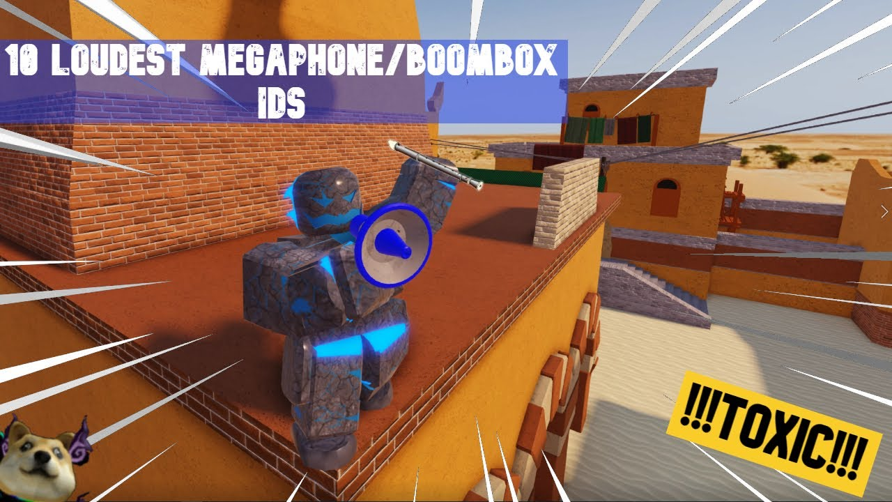 Top 10 loudest Roblox Arsenal Megaphone (Boombox) IDs/Codes(Toxic