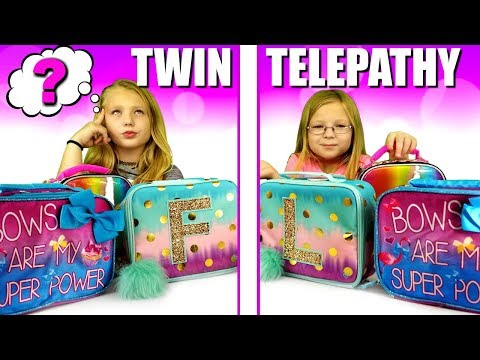 BACK TO SCHOOL Twin Telepathy LUNCH BOX Challenge