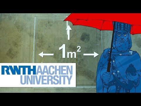 Annual Rainfall in Aachen - As A Solid Water Body