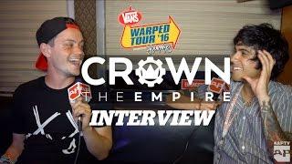 Interview: CROWN THE EMPIRE   Warped Tour 2016
