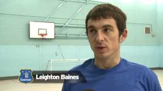 Leighton Baines helps out Everton in the Community apprentice