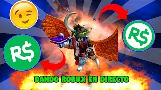 !!! DONANDO ROBUX LIVE!!! + PLAYING WITH SUBS - ROBLOX - AORSINI GAMER