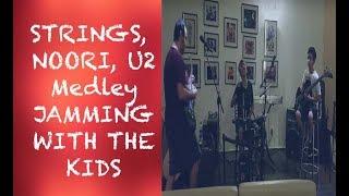 Jamming with the kids: Strings, Noori, U2 medley