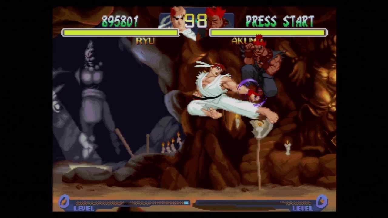 Street Fighter Alpha 2 Ryu Vs Akuma Boss Fight Ending