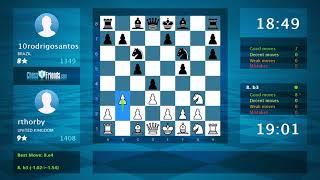 Chess Game Analysis: rthorby - 10rodrigosantos : 0-1 (By ChessFriends.com)