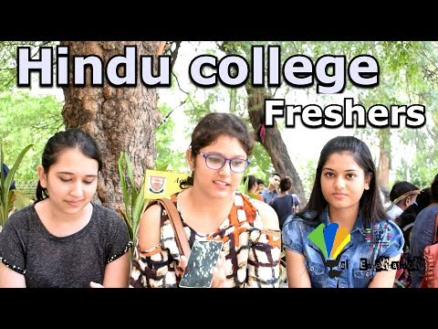 Life at Hindu college Delhi university | 1st day of fresher's at Hindu college delhi university