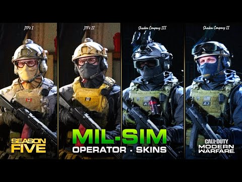 New Mil Sim Operator Skins In Season 5 Coalition Shadow Company Modern Warfare Youtube