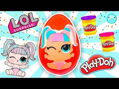 GIANT Custom Unicorn LOL Doll SURPRISE Play Doh Egg UNBOXING | Confetti Pop Lil Sister