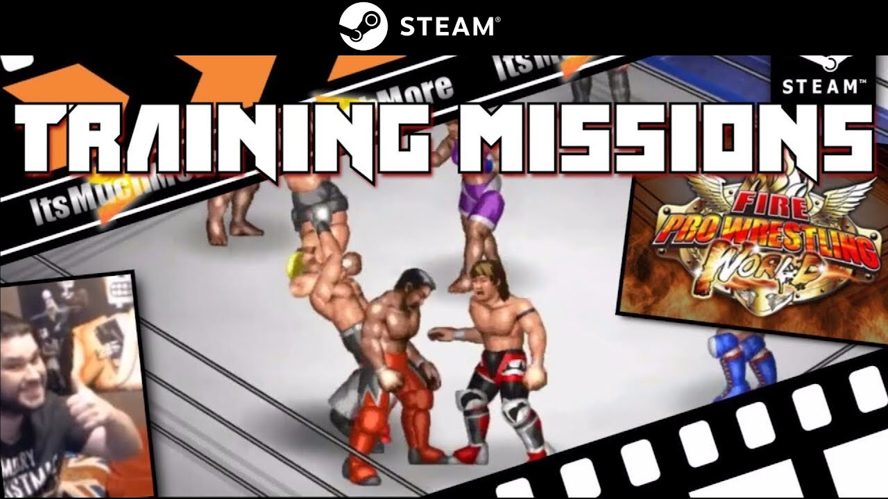 Fire Pro Wrestling WORLD - [TRAINING MISSIONS] - Gameplay Video - PC Steam