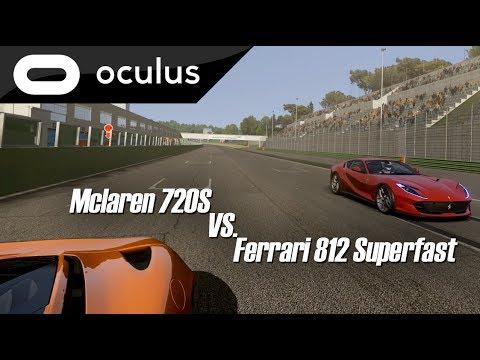 Assetto Corsa VR - Mclaren 720S vs. Ferrari 812 Superfast