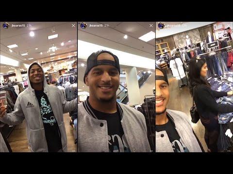 Instagram Story: Jermaine Kearse Takes Tyler Lockett Shopping
