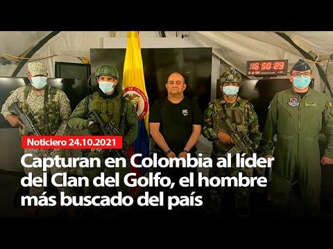 Download Capturan en Colombia al líder del Clan del Golfo, el hombre más buscado - NOTICIERO 24/10/2021