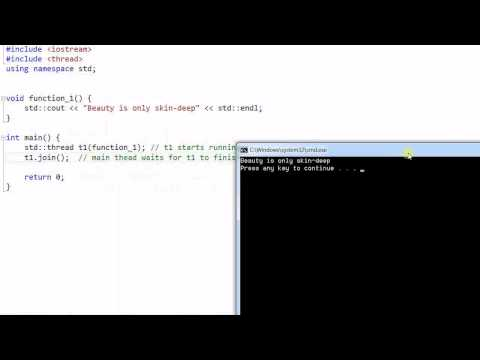 C++ Threading #1:  Introduction