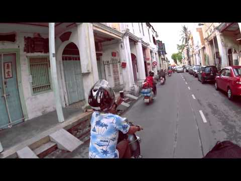 Lambretta Thailand visit Penang Street Art | Action Cam | Sony