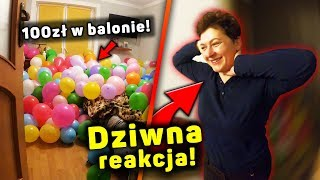 1000 BALONÓW PRANK NA MOJEJ MAMIE! *100zł w balonie*