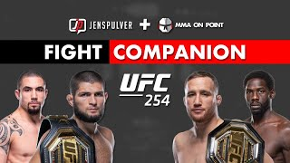 UFC 254: Nurmagomedov vs Gaethje and Whittaker vs Cannonier Fight Companion w/ Jens Pulver