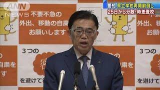 25日から分散・時差登校 県立学校再開前倒し 愛知(20/05/13)