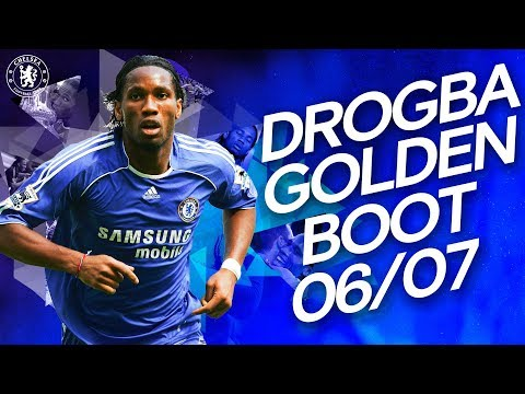 Didier Drogba's Golden Boot Winning Season   All 20 Goals   Premier League 2006/07