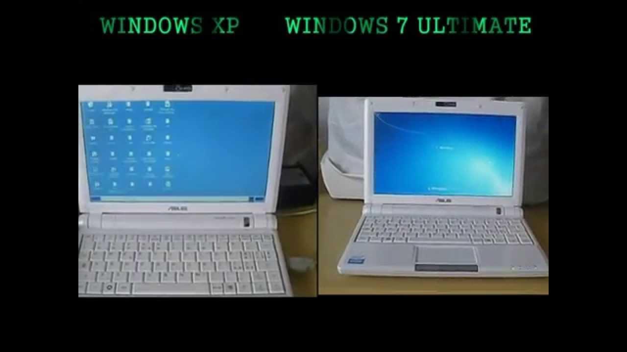 Asus Eee Pc 900 Windows XP vs. Windows 7 Boot Time Comparison