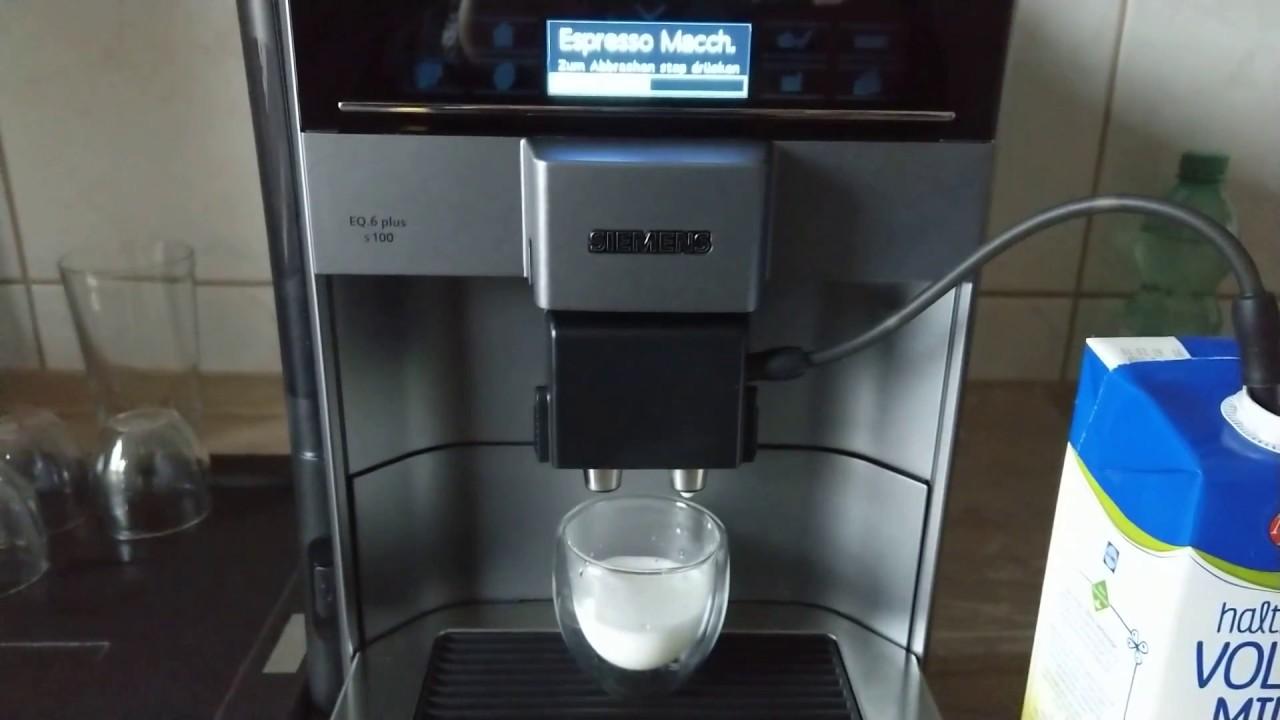 Siemens Eq 6 Plus S100 Test Espresso Macchiatto Siemens Kaffeevollautomat Eq 6 Plus Youtube