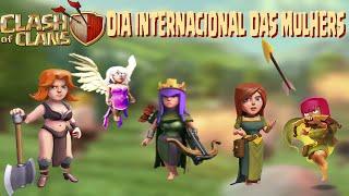 Usando as mulheres no Dia internacional das mulheres no Clash Of Clans