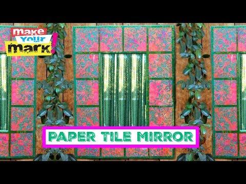 Paper Tile Mirror