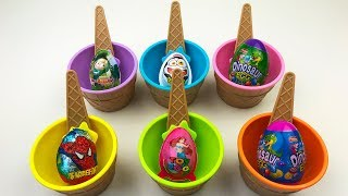 Colored Dishes For Ice Cream With Eggs Video For Children