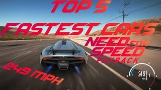 5 Fastest Cars In Need For Speed Payback